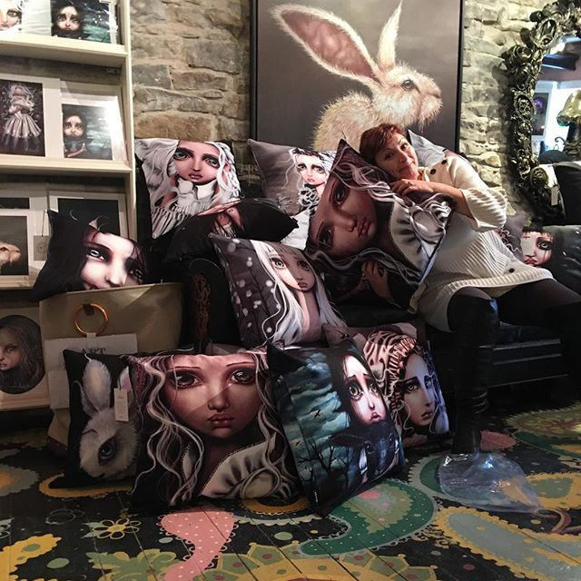 Tons of new cushions at the gallery!