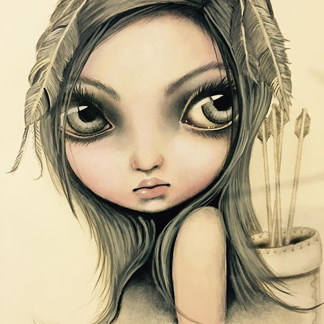 My new painting Aielah!! Limited to only 75. Can be viewed on www.angelinawrona.ca. , #newpainting, #Aielah, edition!!
