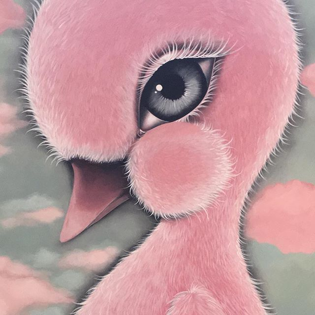 Working on this massive painting today!! , #pinkduck,