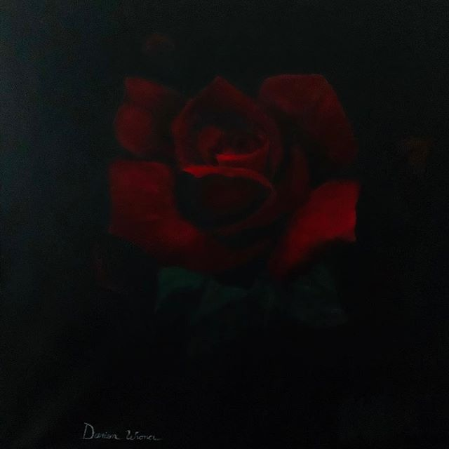 My amazing daughter painted this large 3 foot square rose!!!